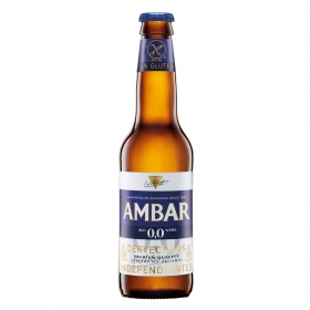 Cerveza Ambar 0,0 sin alcohol sin gluten botella 33 cl.