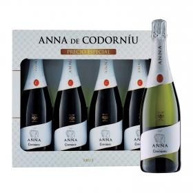 LOTE 103: 4 botellas D.O. Cava Anna de Codorníu brut 75 cl.