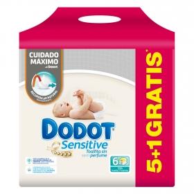 Toallitas recambio Dodot Sensitive pack de 6 paquetes de 54 ud.