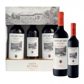 LOTE 84: 2 botellas D.O. Ca. Rioja Coto de Imaz tinto reserva 75 cl. + 1 botella D.O. Ca Rioja Coto de Imaz tinto reserva 50 cl. pack 3 botellas