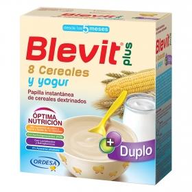 Papilla de 8 cereales y yogur Blevit plus Duplo 600 g.