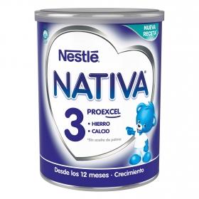 Leche infantil de crecimiento desde 12 meses en polvo Nestlé Nativa Proexcel lata 800 g.