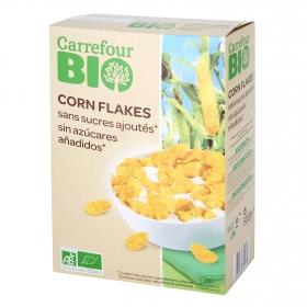 Cereales sin azúcares añadidos ecológicos Corn Flakes Carrefour Bio 500 g.