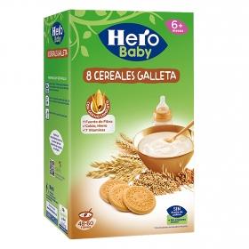 Papilla instantánea con galletas maría Hero Baby 1200 g.