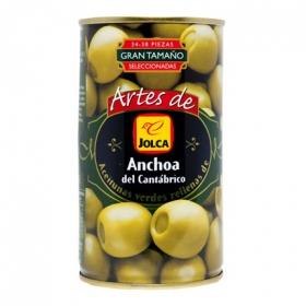 Aceitunas verdes rellenas de anchoa Jolca 150 g.
