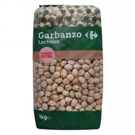Garbanzo lechoso categoría extra Carrefour 1 kg.