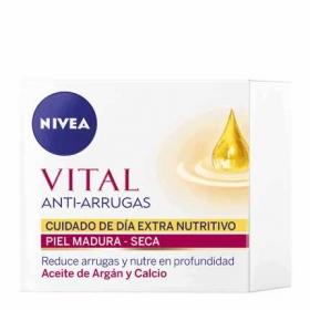 Crema de día Extra Nutritiva con aceite de argan y calcio Nivea 50 ml.