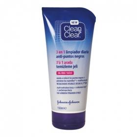 Gel limpiador 3 en 1 puntos negros Clean & Clear 150 ml.