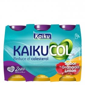 Yogur líquido zero de granada Kaikucol pack de 6 unidades de 92,5 g.
