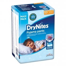 Ropa interior absorbente niño noche DryNites 3-5 años (16kg-23 kg.) 16 ud.
