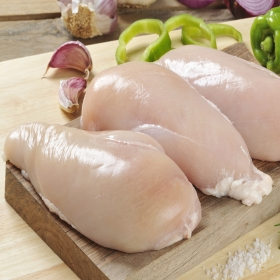 Pechuga entera de pollo. Envase familiar