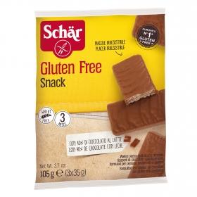 Galletas de barquillo de chocolate con avellanas Schär sin gluten 105 g.