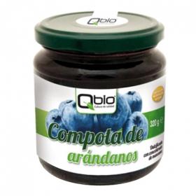 Compota de arandano ecológica Qbio sin gluten 320 g.