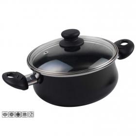 Cacerola Clásica de Acero Esmaltado  Zen Noir 20cm  Negro