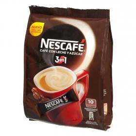 Café soluble natural con leche y azúcar