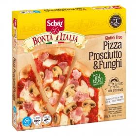 Pizza Prosciutto & Funghi sin gluten