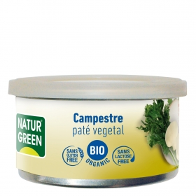 Paté campestre ecológico Naturgreen sin gluten 125 g.
