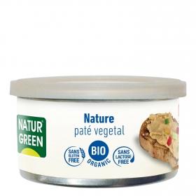 Paté nature ecológico Naturgreen sin gluten 125 g.