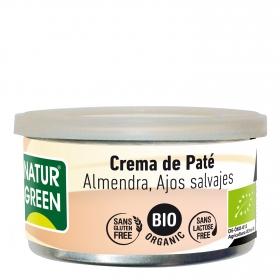 Paté almendras ajos salvajes ecológico Naturgreen sin gluten 130 g.