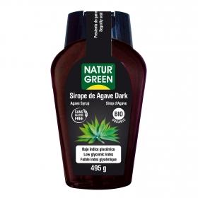 Sirope de agave dark ecológico Naturgreen sin gluten 495 g.
