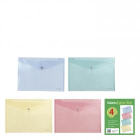 Lote Sobres Translúcidos Folio Colores Surtidos
