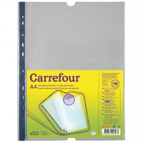 Fundas Perforadas A4 Carrefour 50 uds