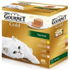 Purina Gourmet Gold Comida Húmeda para Gato Tarrine Surtido 8x85g