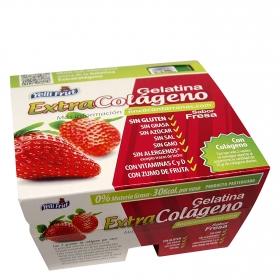 Gelatina extra colágeno sabor fresa