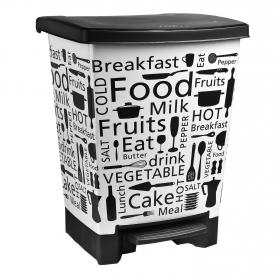 Cubo  de basura de Plástico  25 Litros - Decorado Paris
