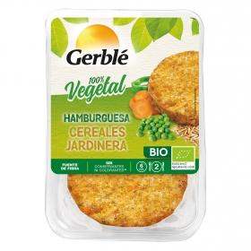 Hamburguesa de cereales jardinera ecológica Gerblé Bio pack de 2 unidades de 80 g.