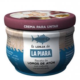Crema para untar de lomo de atún con cebolla caramelizada