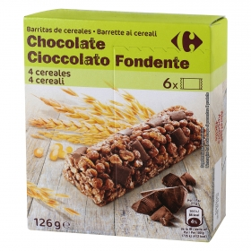 Barritas de cereales con chocolate