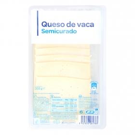Queso de vaca semicurado Producto blanco 200 g.