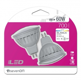 2 Led Spotlight 8W GU5.3 Blanca