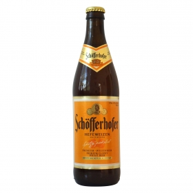 Cerveza Schöfferhofer premium de trigo botella