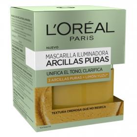 Mascarilla iluminadora Arcillas puras L'Oréal 50 ml.