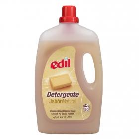 Detergente con jabón natural líquido Edil 50 lavados.