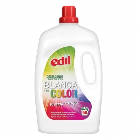 Detergente ropa blanca y de color líquido Edil 50 lavados.