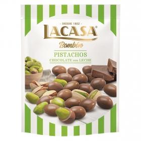Bombón pistachos chocolate con leche Lacasa 100 g.