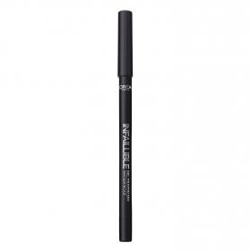 Perfilador de ojos infalible gel crayon nº 01 Black to black L'Oréal 1 ud.