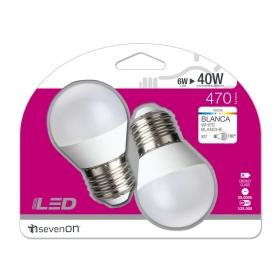Bombillas LED Esféricas 6W Casquillo E27