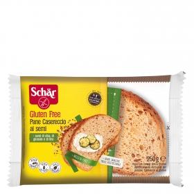 Pan casero con semillas de chia, girason y lino Schär sin gluten y sin lactosa 250 g.