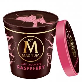 Helado de chocolate negro y frambuesa Magnum 297 ml.