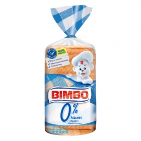 Pan de molde 0% azúcares Bimbo 450 g.