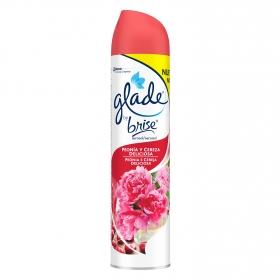 Ambientador aerosol Peonia y Cereza Glade by brise 300 ml.