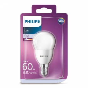 Bombilla LED Philips Esférica 60W E14 Blanco