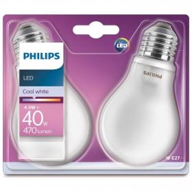 Pack 2 Bombillas Estandar Led Philips 40W E27 Blanco