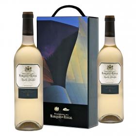 Lote 105: Estuche 2 vinos D.O. Rueda blanco verdejo Marqués de Riscal