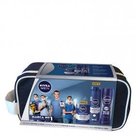 Neceser Protege & Cuida bálsamo + espuma de afeitar + desodorante spray