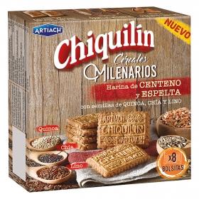 Galletas de cereales milenarios con quinoa, chía y lino Chiquilín 260 g.